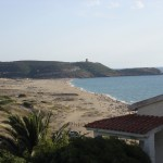 Vista dello spiaggione di Pistis