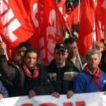 Manifestanti della Cgil