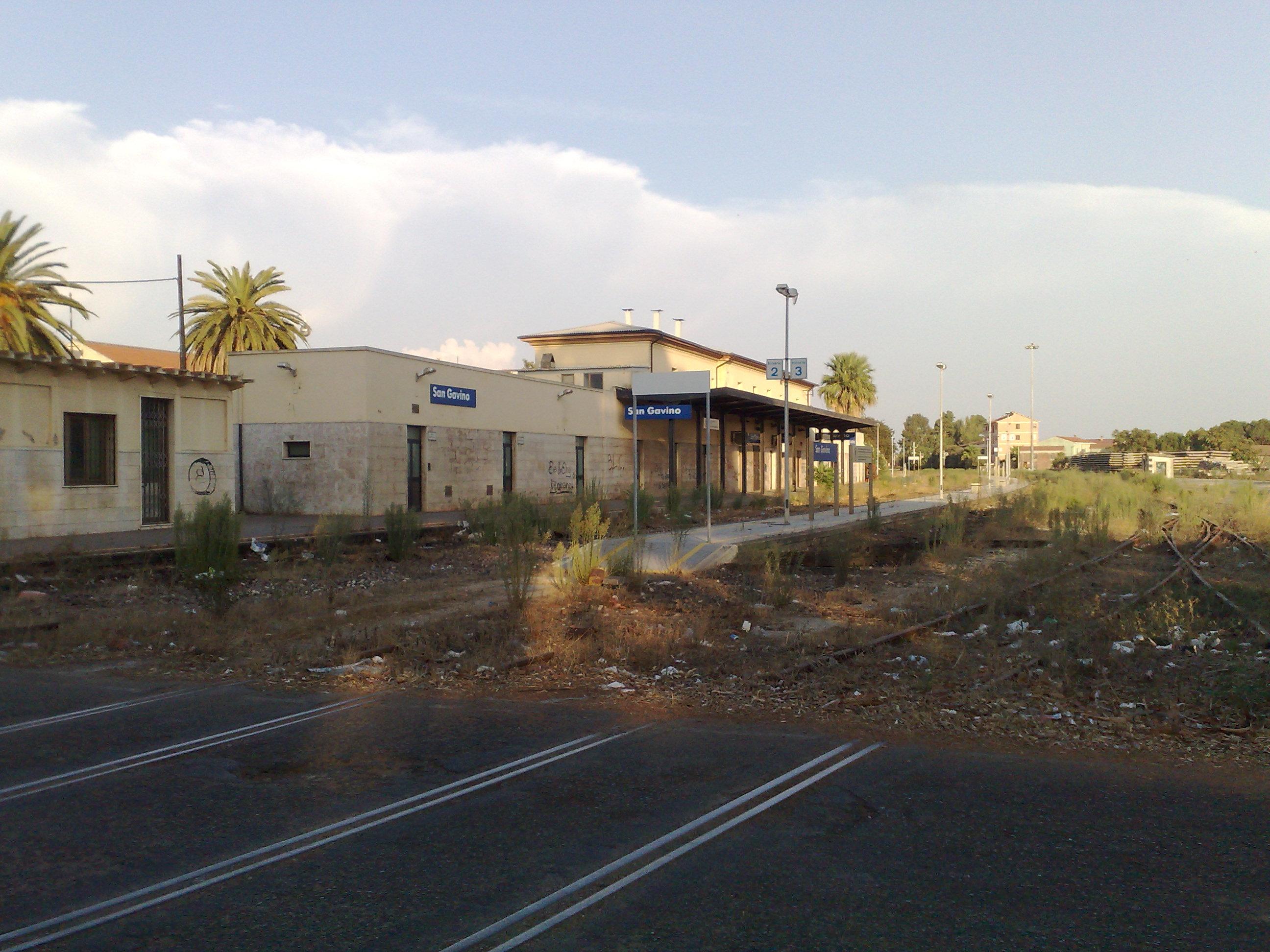 La vecchia stazione di San Gavino