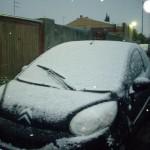 Neve sulle macchine