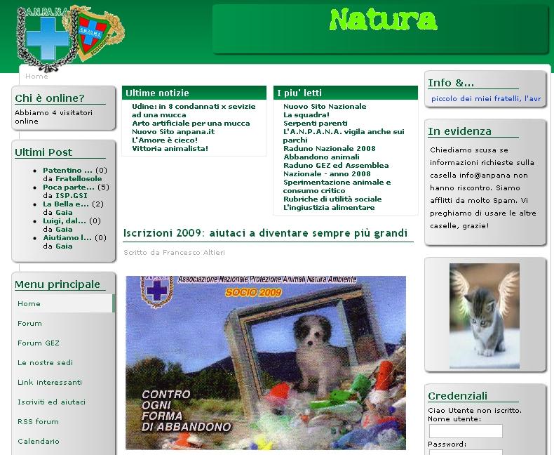 L'home page di Anpana