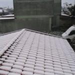 Neve sui tetti