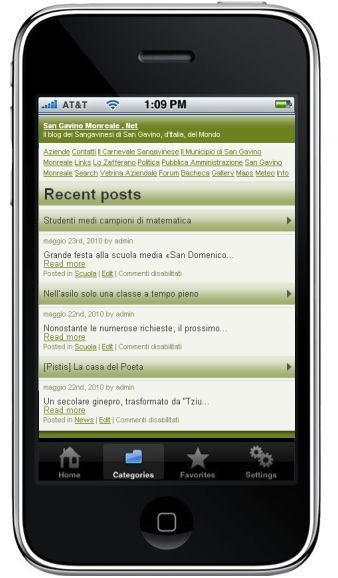 Il nostro sito su iPhone