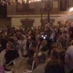 Il pubblico accorso numeroso