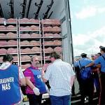 Il tir carico di carne fermato a Olbia durante il blitz dell'MpsSASSARI.