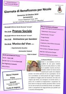 Giornata di Beneficenza per Nicole Salis