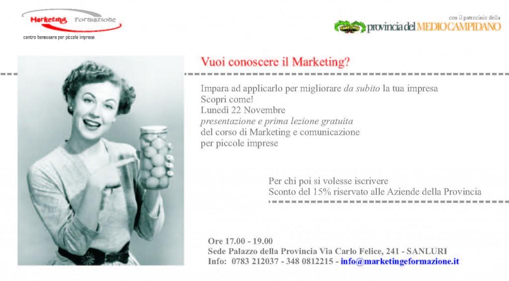 Corso di Marketing per piccole imprese