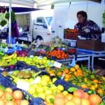 Banco di frutta e vedura