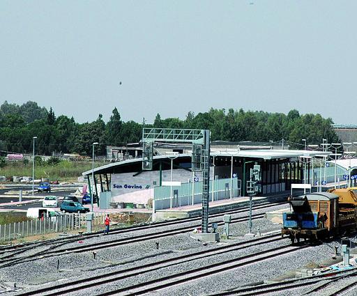 La zona della nuova stazione di San Gavino