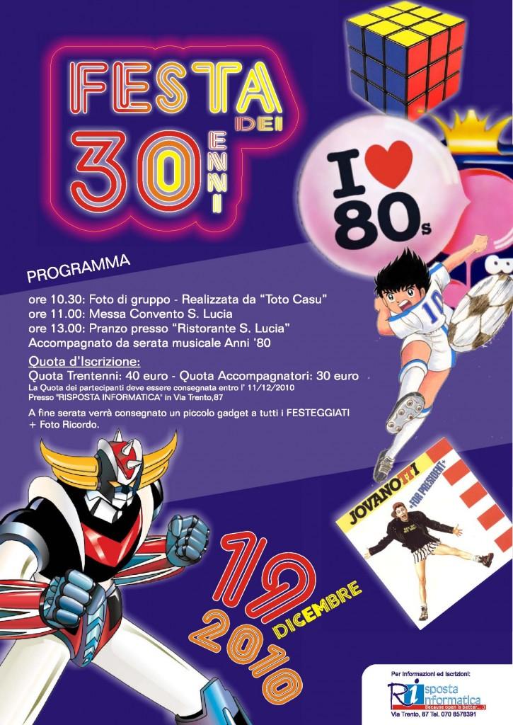 Festa dei trentenni - Classe 1980