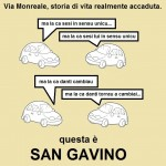 Vignetta di Questa è San Gavino dedicata ai sensi unici