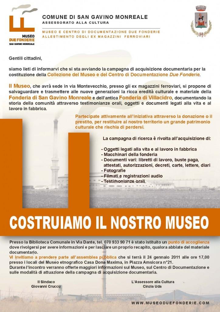 Comunicato Museo Due Fonderie