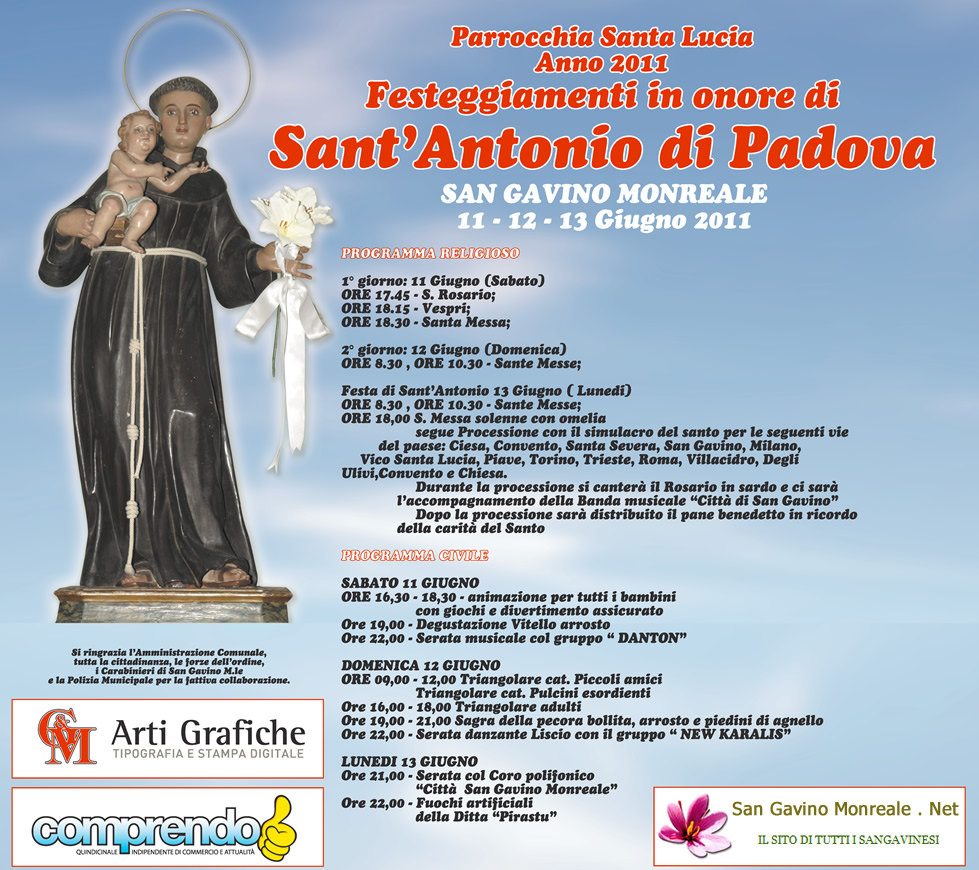 Festa di Sant'Antonio di Padova 2011