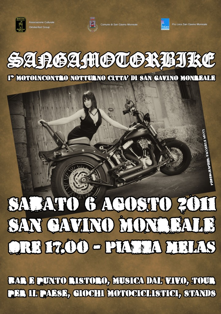 SANGAMOTORBIKE - I° Motoincontro notturno città di San Gavino Monreale