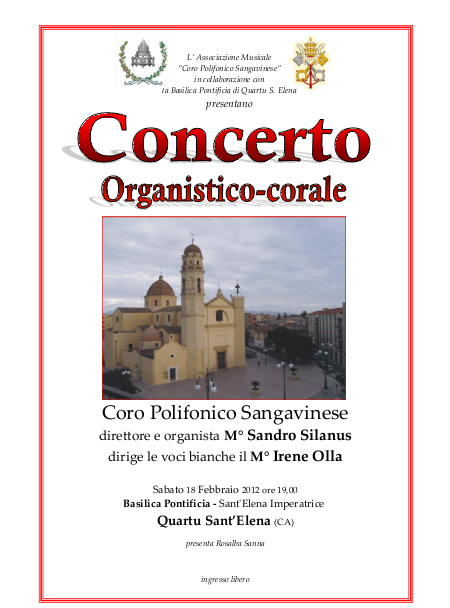 Concerto organistico-corale a Quartu Sant'Elena