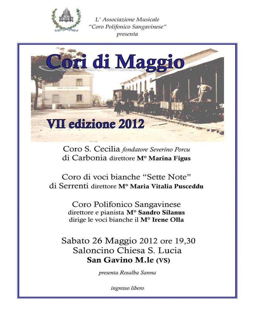 Manifesto VII cori di Maggio  2012