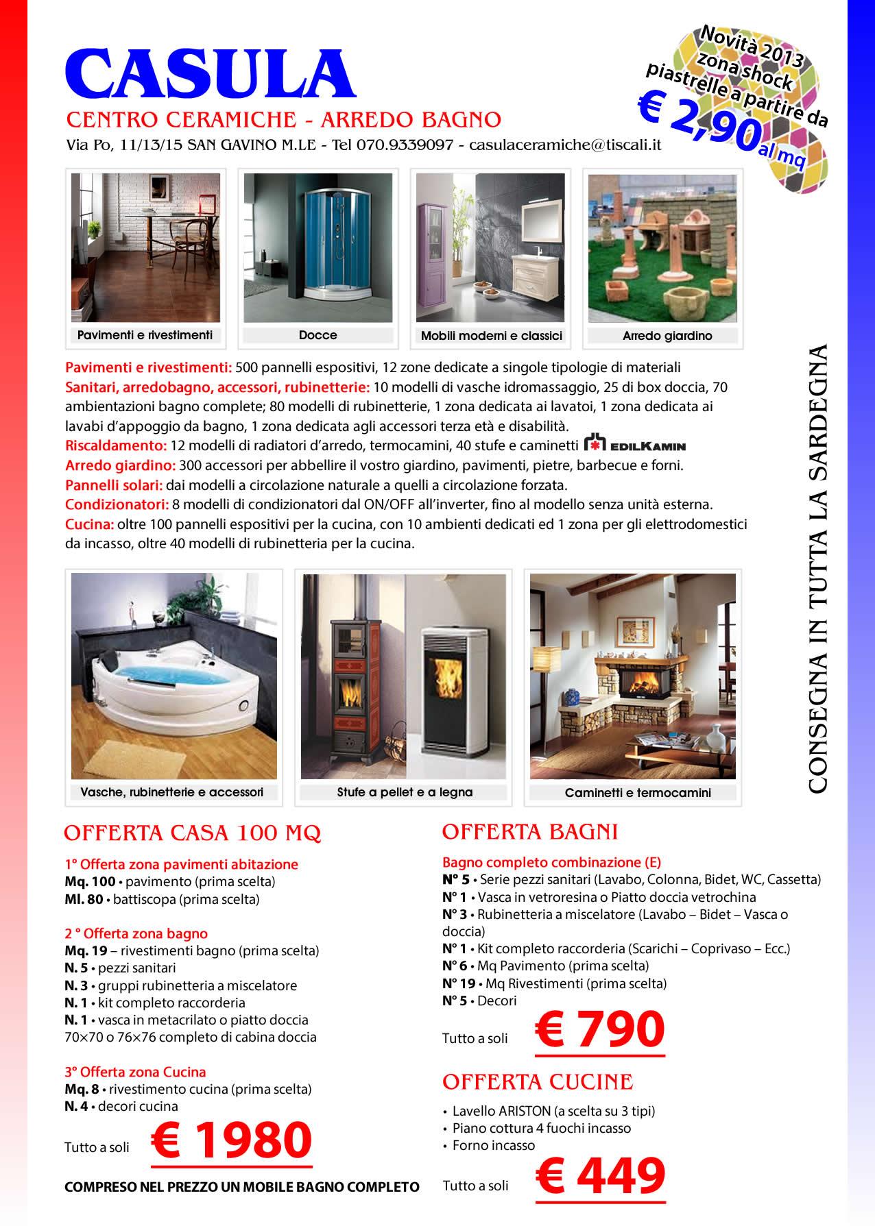 San gavino monreale net casula snc centro ceramiche for Tutto per la casa