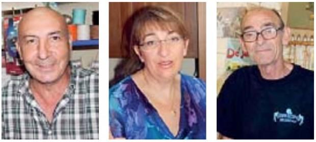 Da sinistra: Pietro Atzori, Tonina Fois e Chicchi Pilloni