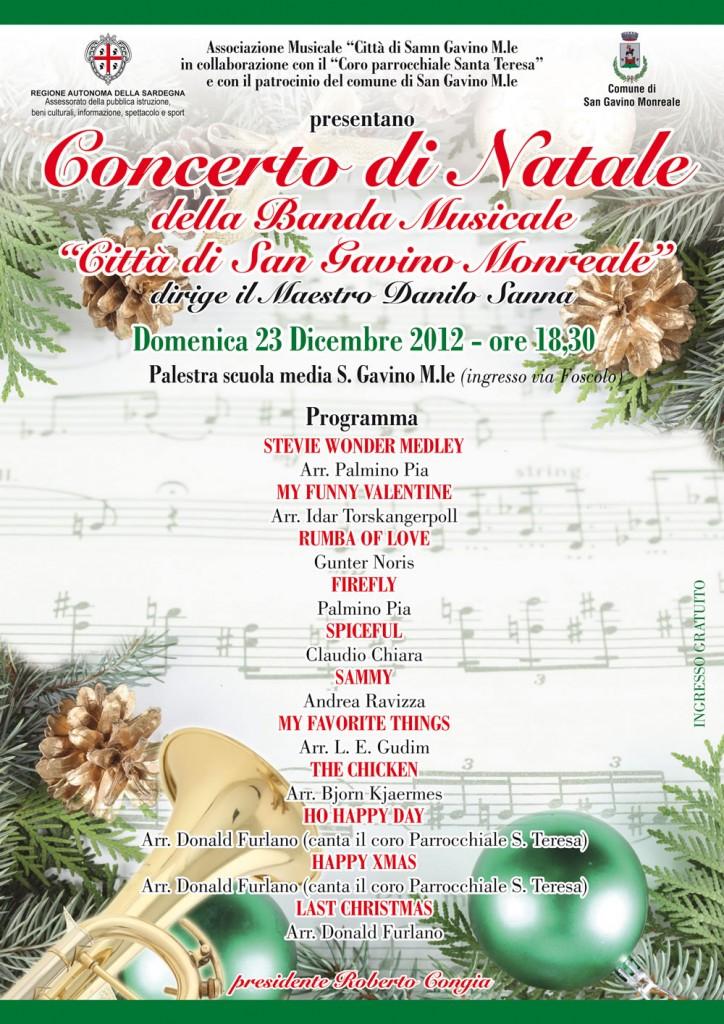 Locandina del Concerto di Natale