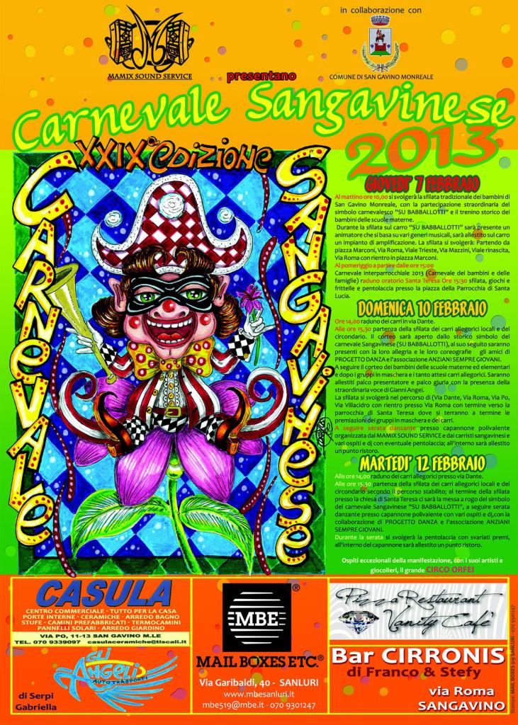 Locandina Carnevale Sangavinese 2013