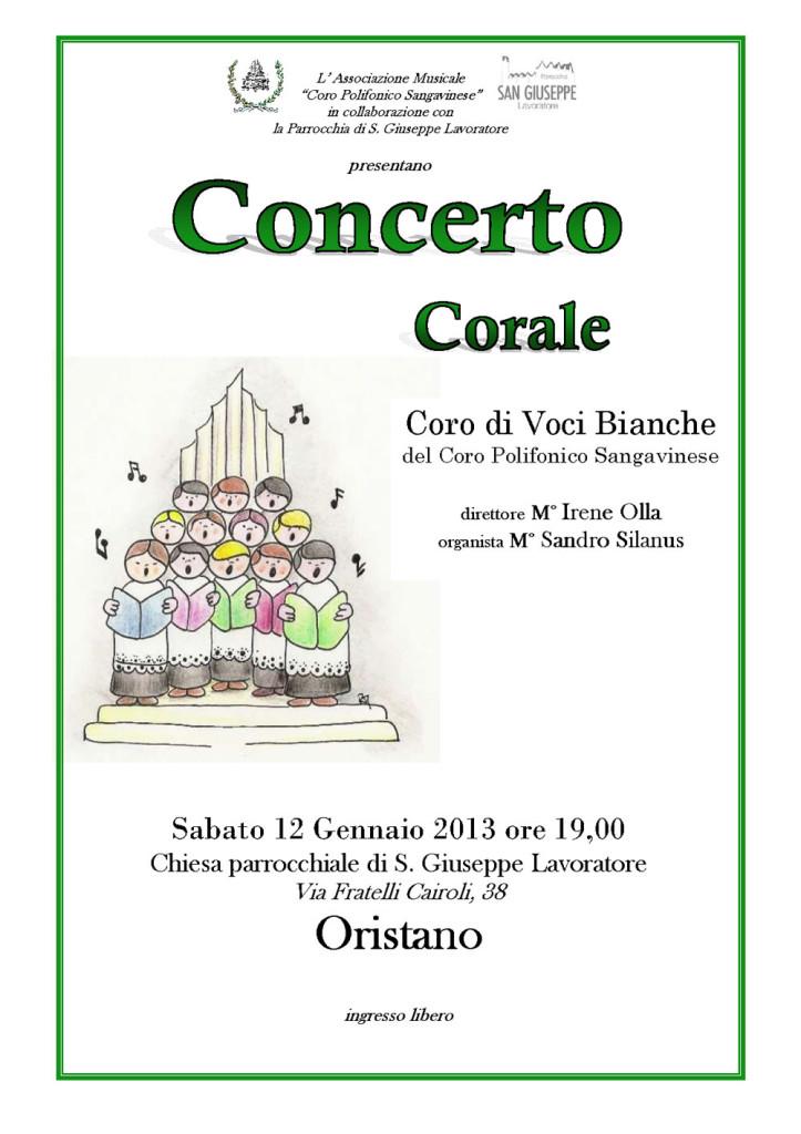 Concerto corale, coro di voci bianche a Oristano