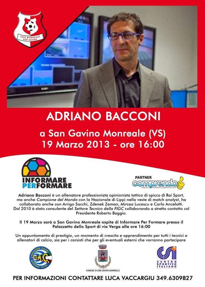 Adriano Bacconi a San Gavino