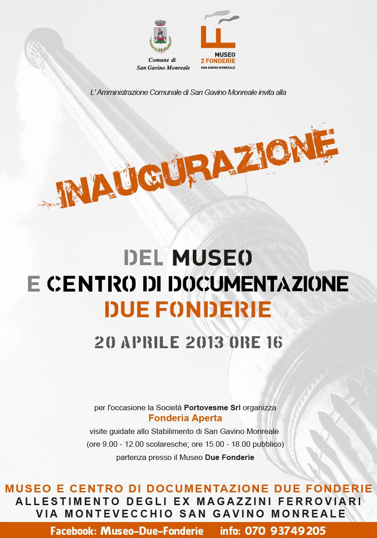 Inaugurazione del Museo e Centro di Documentazione Due Fonderie
