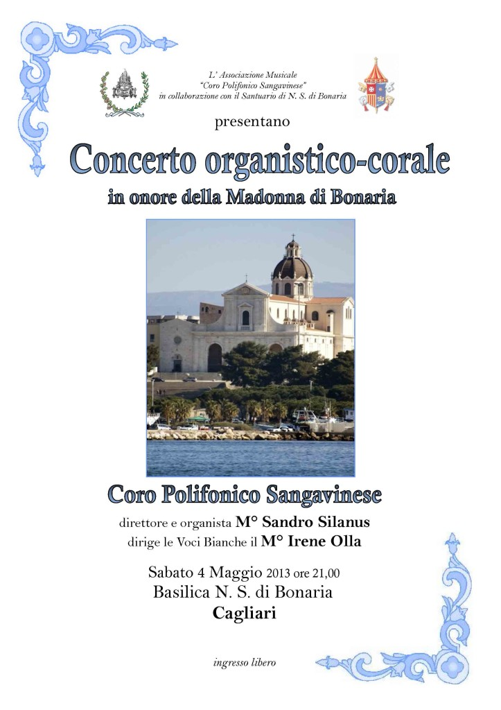 Concerto organistico-corale in onore della Madonna di Bonaria