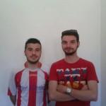 Daniele Figus insieme al mister Alessandro Cabriolu
