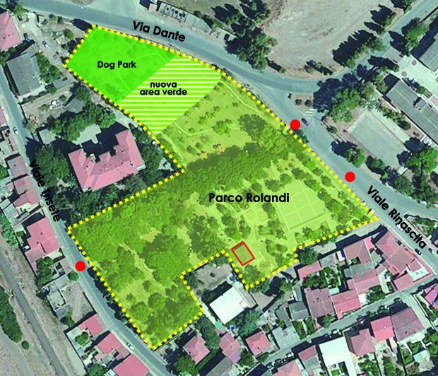 Progetto aree del Parco Rolandi