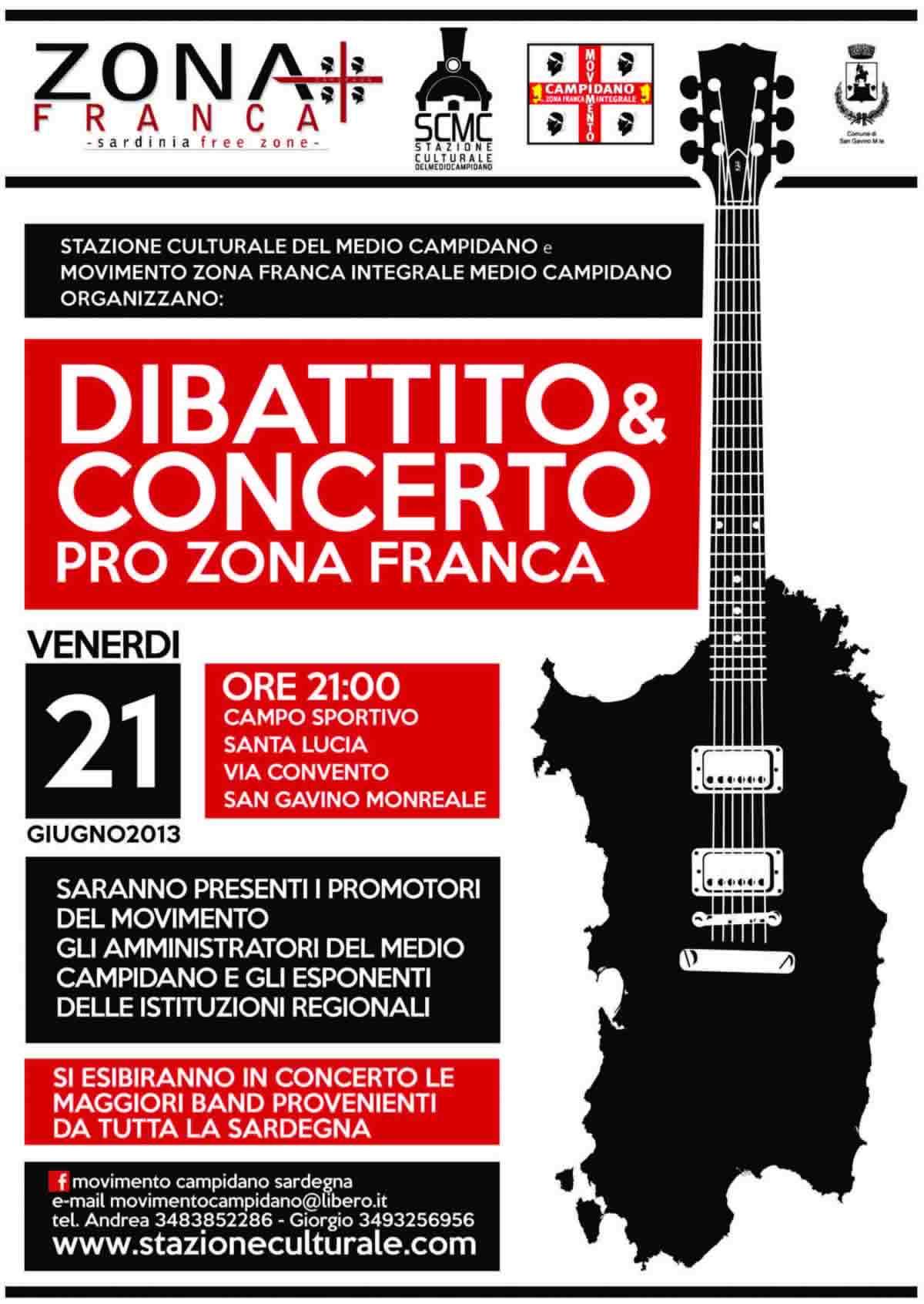 Dibattito e concerto Pro Zona Franca