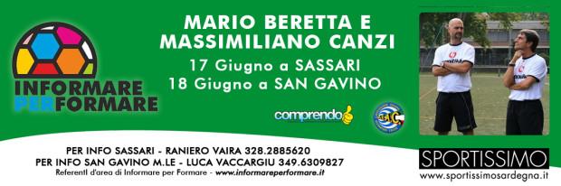 A San Gavino full immersion nel calcio con l'allenatore Mario Beretta