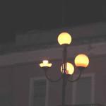 Lampione rotto in piazza Marconi