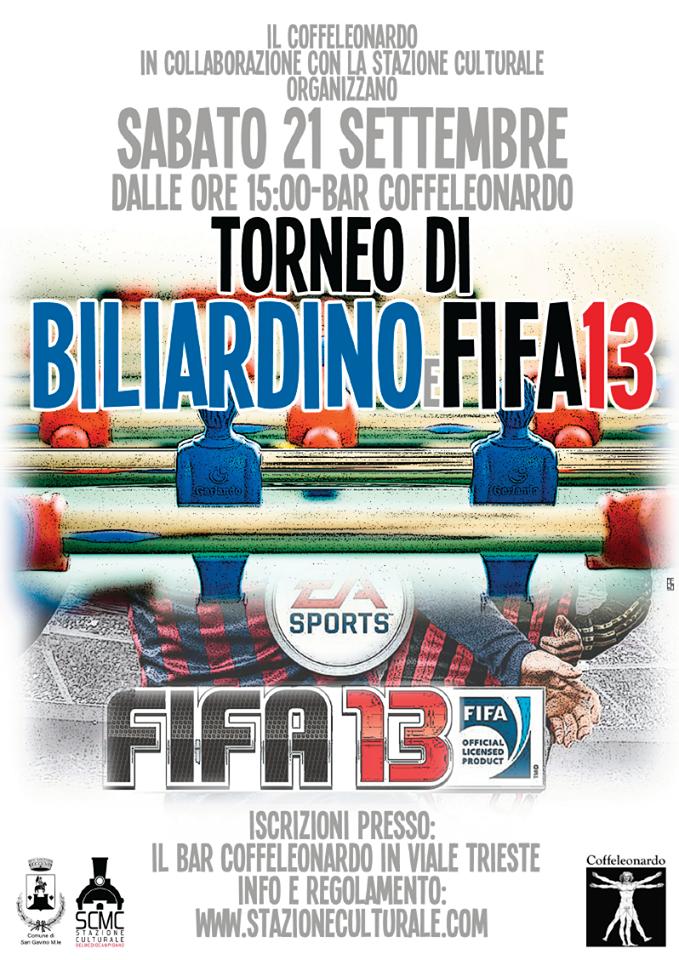 Torneo di Biliardino e FIFA 13 con PlayStation