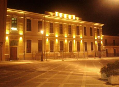 La Piazza Marconi di notte
