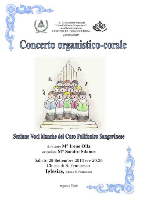 Concerto oganistico-corale a Iglesias