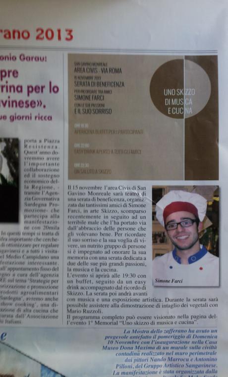 Articolo per Simone Farci