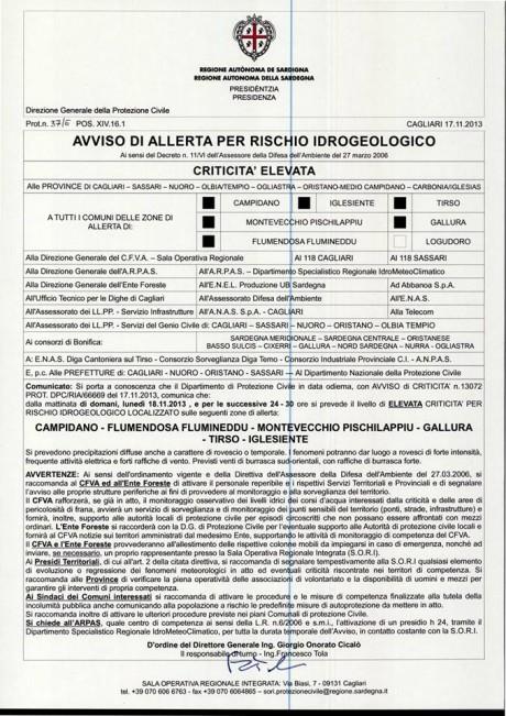 Maltempo: allerta temporali e venti di burrasca in Sardegna