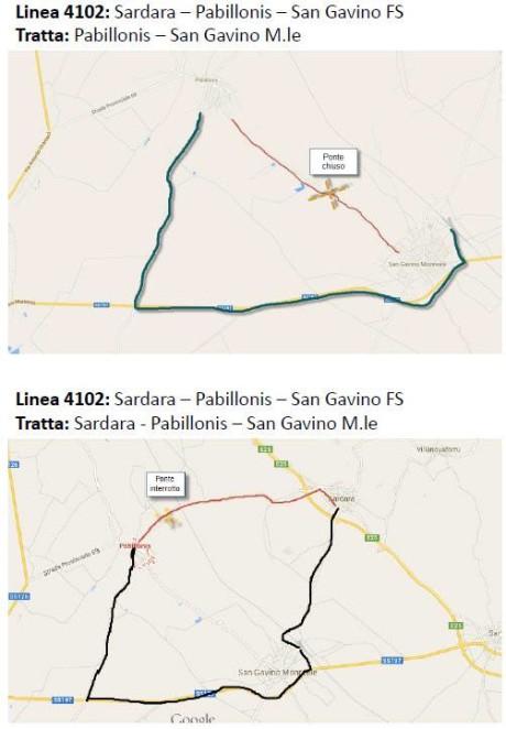 Percorso alternativo San Gavino - Pabillonis