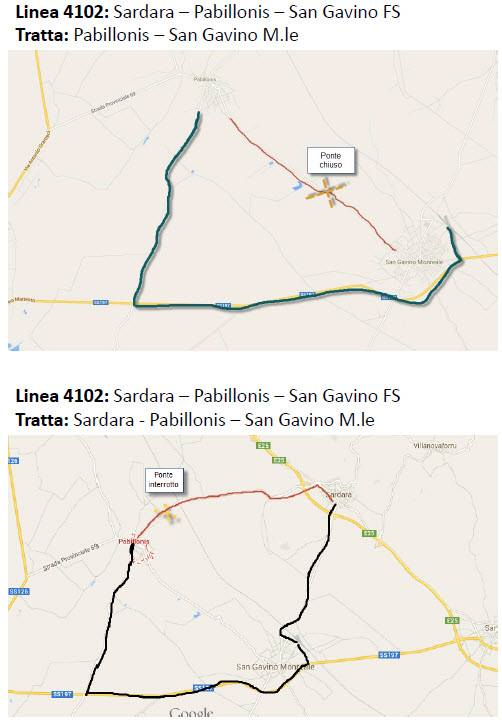 Percorso alternativo San Gavino - Pabillonis