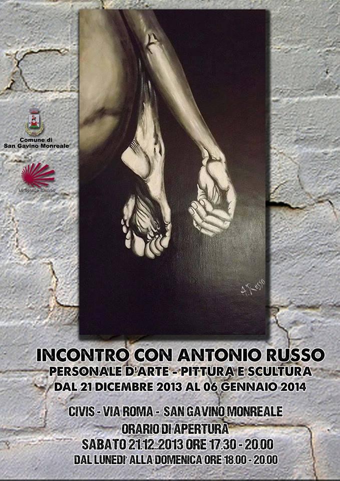 Personale di pittura e scultura di Antonio Russo