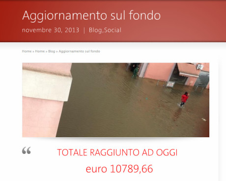 Come procede la raccolta fondi pro alluvionati?