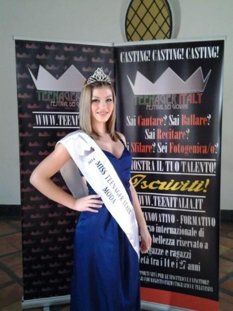 Mara Zucca è Miss Teenager Italy