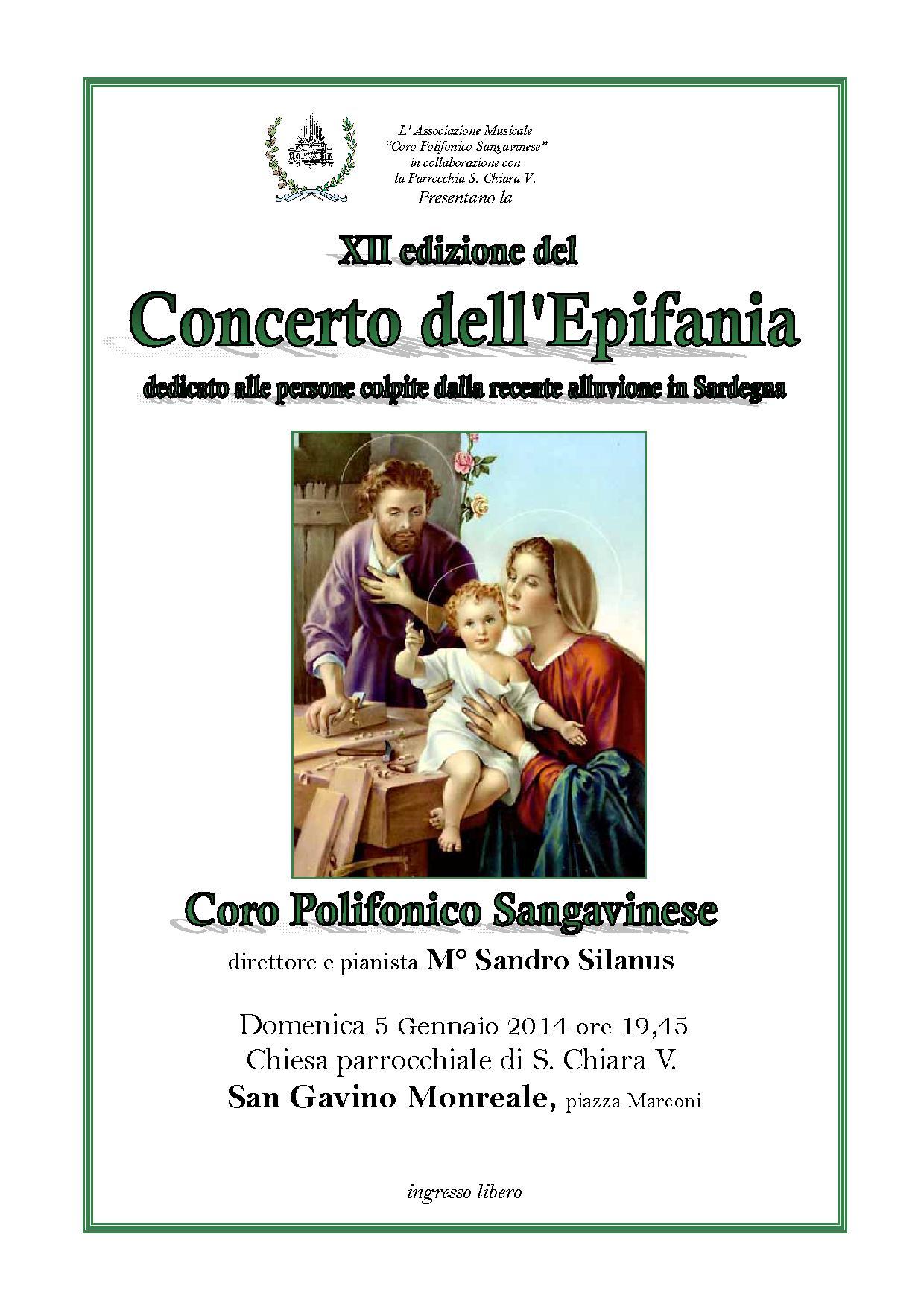XII Edizione del Concerto dell'Epifania