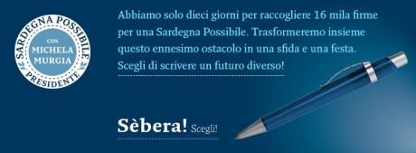Raccolta firme per Sardegna Possibile