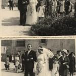 Si andava a piedi in chiesa per i matrimoni e si teneva lo strascico dell'abito della sposa (matrimonio di Paola e Giampaolo)