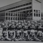 Colonia di Funtanazza - Marinello Pani è il terzo bambino in piedi da destra (anni 57-58)