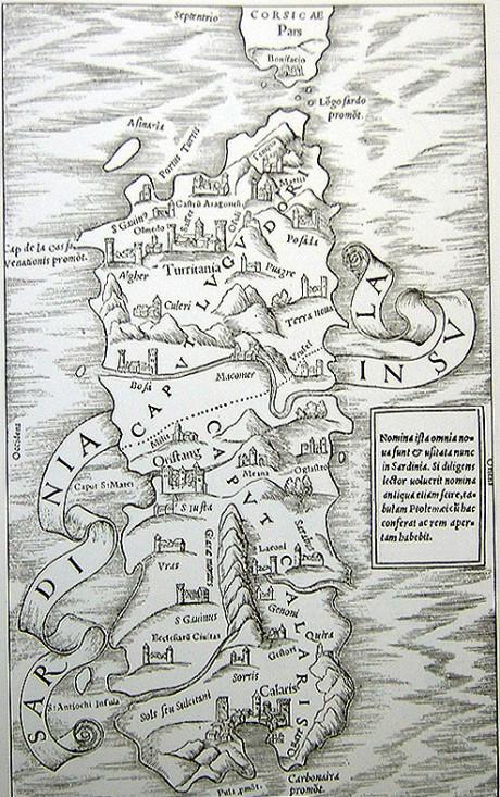 Cartina di Sigismondo Arquer