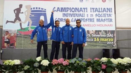 Franco Melas campione italiano SM70 di corsa campestre (Foto Nando Gallese)