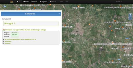 Nurnet: Mappa dei Nuraghi, Domus de Janas, pozzi sacri e villaggi nuragici